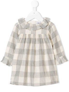 Tartine Et Chocolat gingham check dress - Grey