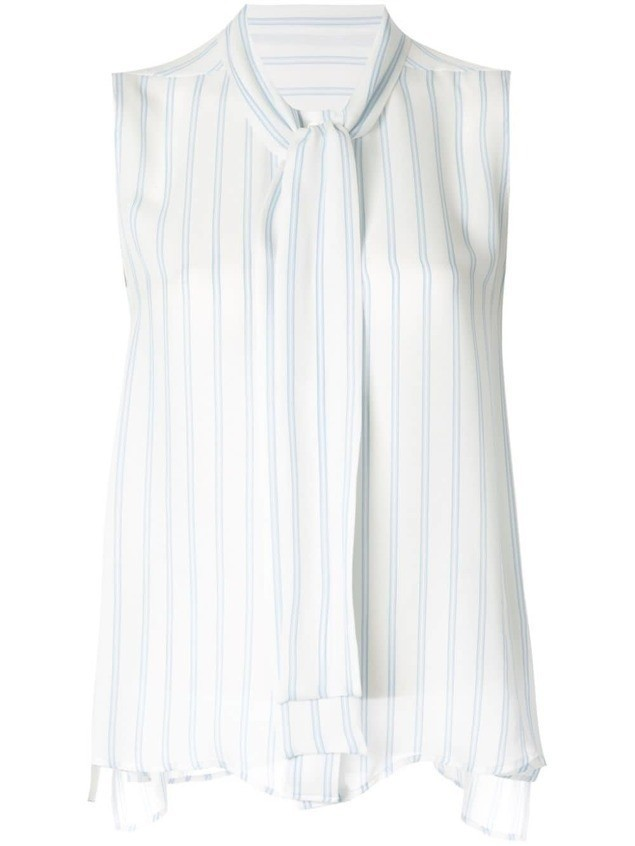 Des Prés striped blouse - White