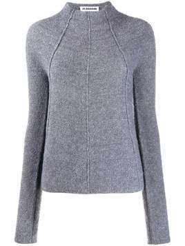 Jil Sander piped seams knitted jumper - Grey