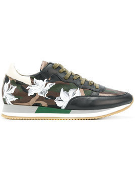 Philippe Model - floral camouflage sneakers - Herren - Polyamide/Calf Leather/Leather/rubber - 41 - Brown