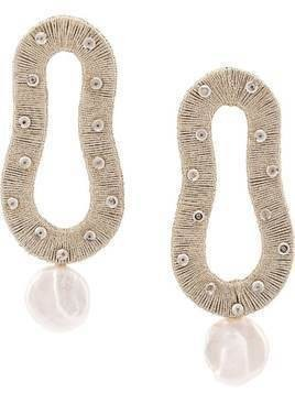 Lizzie Fortunato Jewels Escher hand-woven earrings - Silver