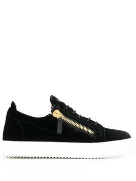 Giuseppe Zanotti double zipper sneakers - Black