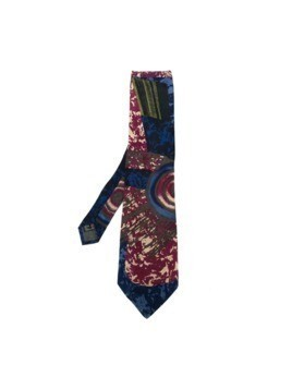 Claude Montana Vintage abstract print tie - Blue