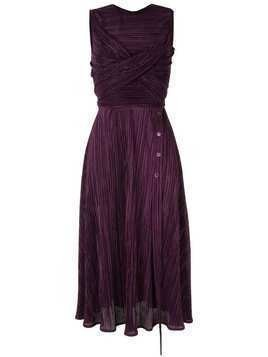 Dalood plissé midi dress - PURPLE