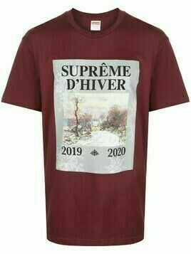 Supreme winter print T-shirt - Red