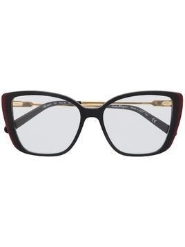 Salvatore Ferragamo square frame glasses - Black