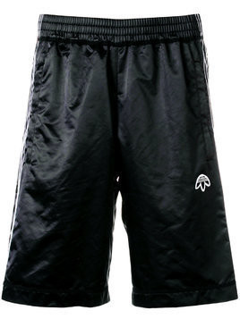 Adidas Originals By Alexander Wang logo embroidered track shorts - Black