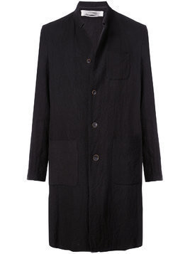 Individual Sentiments single breasted crease coat - Black