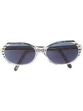 Yves Saint Laurent Pre-Owned oval marbled sunglasses - Multicolour