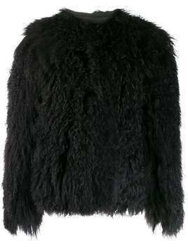 Isaac Sellam Experience Magnolie fur coat - Black