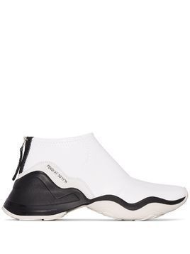 Fendi FFluid two-tone patent neoprene sneakers - White