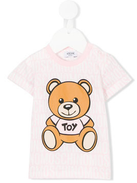 Moschino Kids teddy bear print T-shirt - Pink & Purple