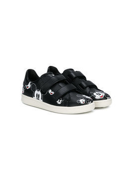 Moa Kids Mickey Mouse touch-strap sneakers - Black