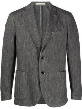 Bagnoli Sartoria Napoli patch pocket soft blazer - Grey