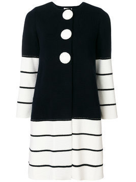 Charlott striped knit coat - Blue