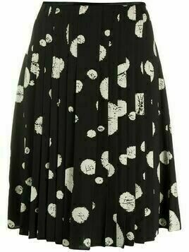 Balenciaga Pre-Owned 2000s abstract print pleated skirt - Black