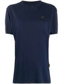 Vivienne Westwood Anglomania Badge embroidered logo T-shirt - Blue