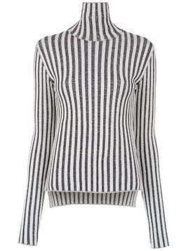 Gloria Coelho striped knit blouse - Blue