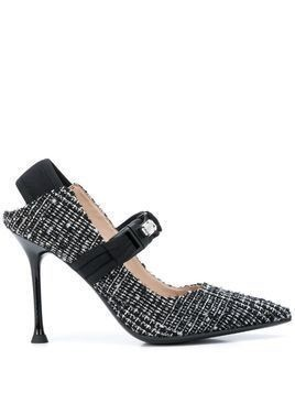 Alberto Gozzi embellished mary jane pumps - Black
