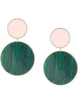 Joanna Laura Constantine Statement tribal pendant earrings - Green