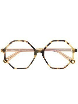 Chloé Eyewear octagon glasses - Yellow