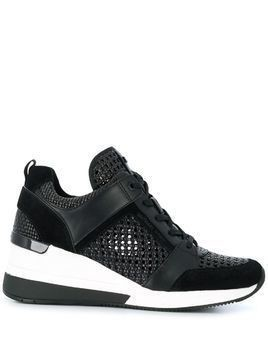 Michael Kors Georgie woven detail sneakers - Black