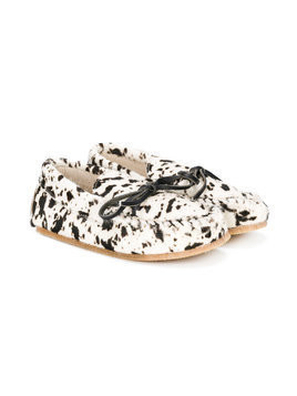 Pépé Kids bow detail loafers - White
