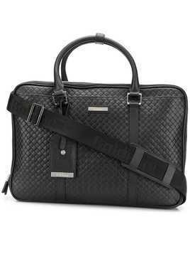 Baldinini quilted laptop bag - Black