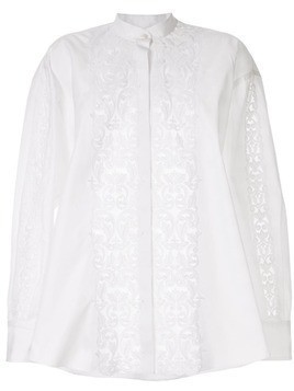 Giambattista Valli appliqué band-collar shirt - White