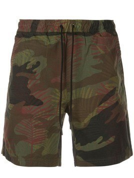 Alex Mill camouflage track shorts - Black