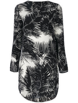 Theory palm print tie back dress - Black