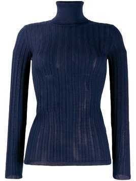 M Missoni fitted knitted top - Blue