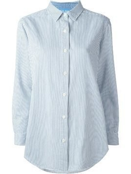 Mih Jeans striped loose fit shirt - White