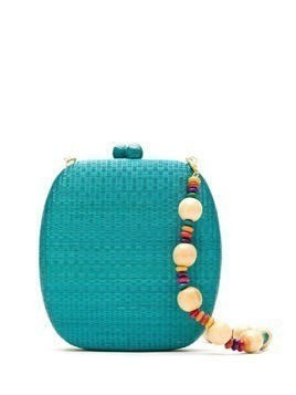 Serpui wicker clutch bag - Blue
