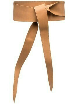 Federica Tosi tie-fastening leather belt - Brown