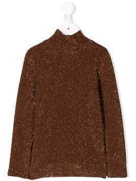 Caffe' D'orzo glitter detail jumper - Brown