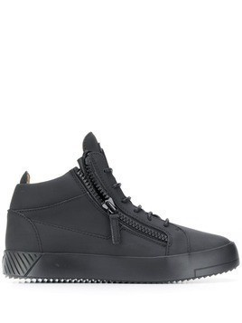 Giuseppe Zanotti hi-top zipper sneakers - Black