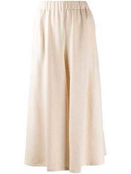 Forte Forte wide leg cropped culottes - NEUTRALS