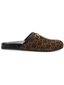 Gucci slip-on G slippers - Brown