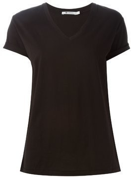 T By Alexander Wang v-neck T-shirt - Black