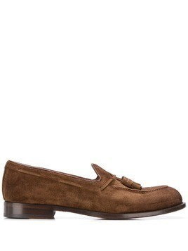 Doucal's tassel embellished loafers - Brown