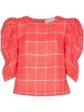 Mara Hoffman Katya puff sleeve blouse - Red