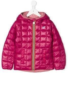 K Way Kids quilted down jacket - Pink