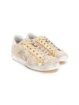 2 Star Kids TEEN lace-up sneakers - Gold