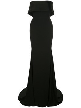 Alex Perry folded top evening dress - Black