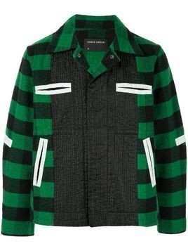 Craig Green plaid panelled shirt jacket