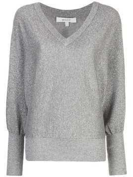 Milly long-sleeve fitted sweater - Grey