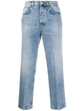 Haikure cropped straight leg jeans - Blue