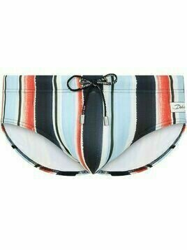 Dolce & Gabbana striped drawstring swimming trunks - Blue