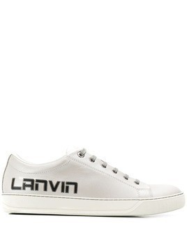 Lanvin logo print low-top sneakers - Silver